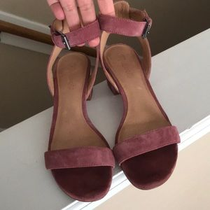 Madewell Alice sandals in autumn berry suede. 8